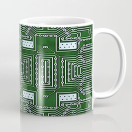 Computer Geek Circuit Board Pattern Coffee Mug