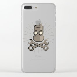 Jolly Robot 01 Clear iPhone Case