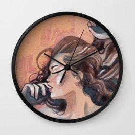 Flavor of orange Wall Clock