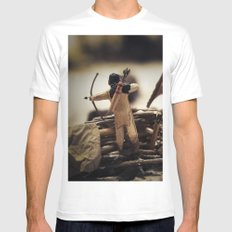 Tom Feiler Bow and Arrow White MEDIUM Mens Fitted Tee