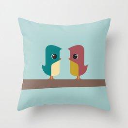 Tweet Heart Throw Pillow