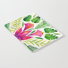 Tropical Symmetry – Pink & Green Notebook