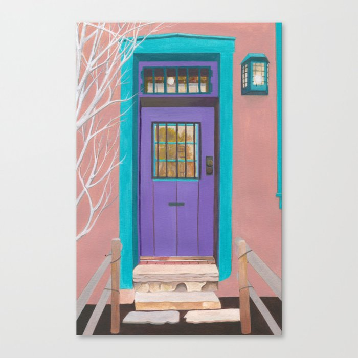 Canvas Santa Fe >> Santa Fe Door Canvas Print
