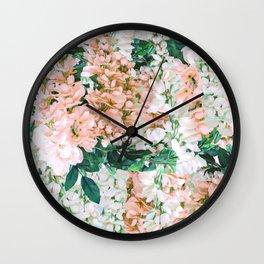 1992 Floral Wall Clock