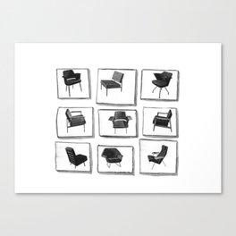Chair mosaic #1 Canvas Print