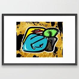 Digital Abstract Graffiti #1 Framed Art Print