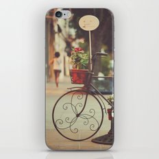 The bike with the flowers iPhone & iPod Skin