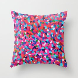Pink Dreams Abstract Painting Throw Pillow