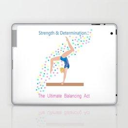 Gymnastics - Ultimate Balancing Act (on Balance Beam) Laptop & iPad Skin