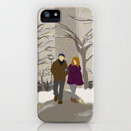 Snowy Stroll iPhone Case