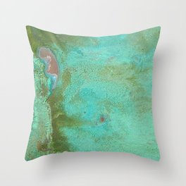 Listening in Green Throw Pillow