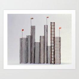 Air Cages No 9 Sculpture by Annalisa Ramondino Art Print