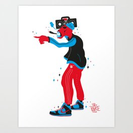 Rise of the ghetto zombie Art Print