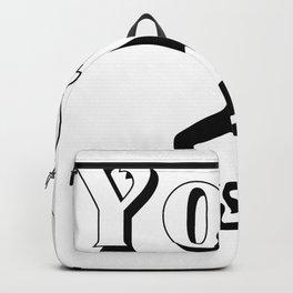 Yoga logo design Backpack