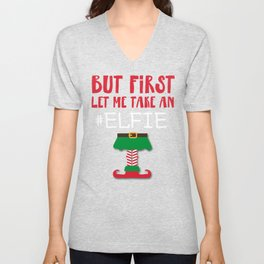 Funny christmas elf design - perfect gift Unisex V-Neck