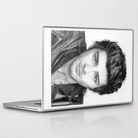 zayn malik Laptop & iPad Skins featuring Zayn Malik Drawing by Emilia Apreda