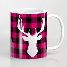 Winter Plaid Deer Mug