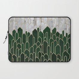 Emerald Green Crystals and Quartz Laptop Sleeve