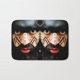 Colombian Tribal Bear Mark Of Courage by Wendy C Vega Bath Mat