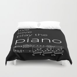 Live, love, play the piano (dark colors) Duvet Cover