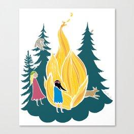 Midsummer bonfire (Kokko) Canvas Print