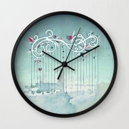 Heart Candy Raincloud Wall Clock