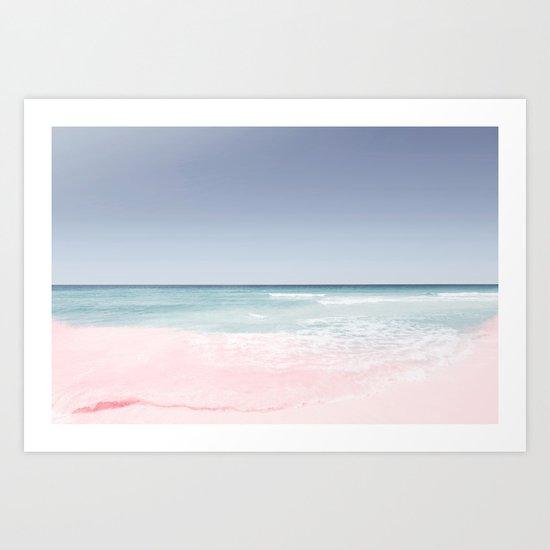 Pastel ocean waves Art Print