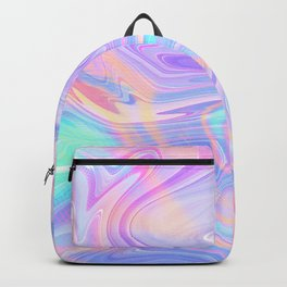 Iridescent Marble Texture Backpack