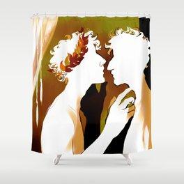 Achilles and Patroclus - Richard Siken Shower Curtain