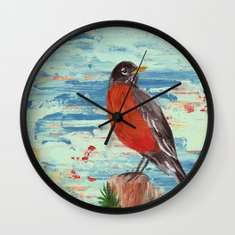 American Robin Wall Clock