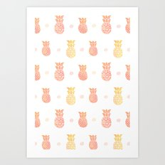 Fresh Summer Pineapple Art Print