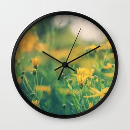 yellow is my favorite color Wall Clock