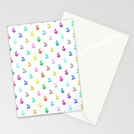 Rainbow cherries Stationery Cards