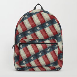 Vintage Texas flag pattern Backpack