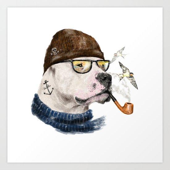 Mr.Mastiff Art Print