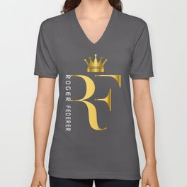Roger Federer The King of Tennis Unisex V-Neck