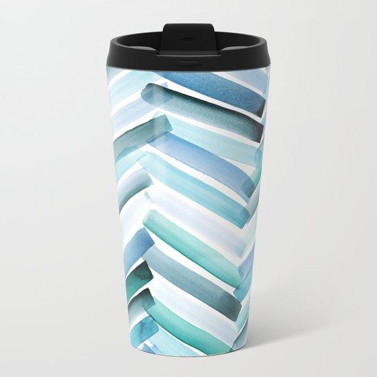 Cycladic Chevron Metal Travel Mug