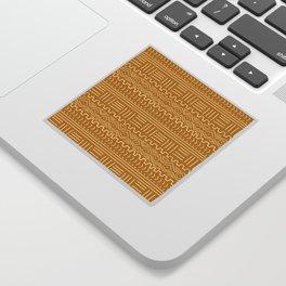 Mud Cloth on Mustard Sticker