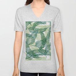 Green Palm Leaves Unisex V-Neck