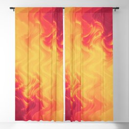 The volcano, abstract eruption and fire flames in hot colors Blackout Curtain