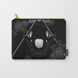 Bear Skull And Deathheads Carry-All Pouch