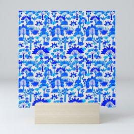 Exotic Garden Blue Mini Art Print