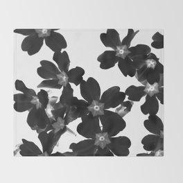Primrose In BW Throw Blanket