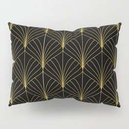 At The Piano Bar... Art Deco Gold Pattern Pillow Sham