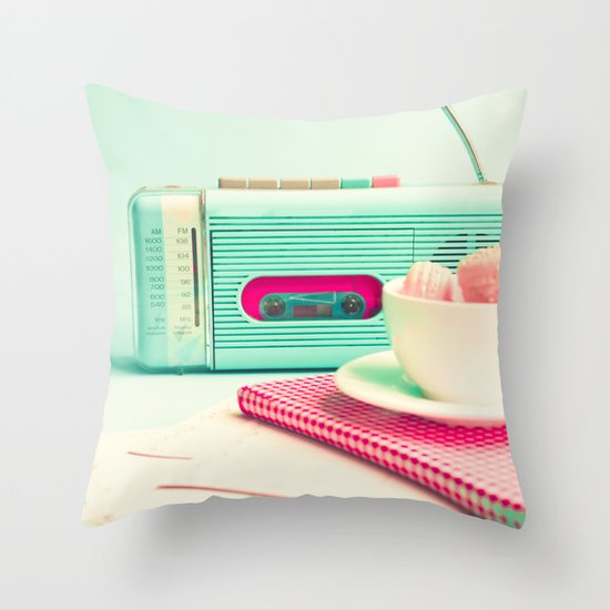 Radio and Tape Stories  Throw Pillow