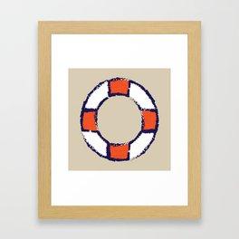 lifeguard buoy sand #nauticaldecor Framed Art Print