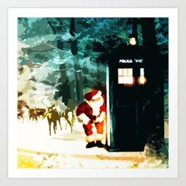 Keep Watching The Tardis Light Art Print