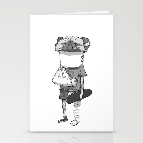 That pug. Stationery Cards