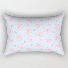 Kawaii Sakura Cherry Blossom Rectangular Pillow