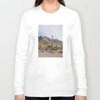 arizona Long Sleeve T-shirts featuring Arizona Cactus by Kevin Russ